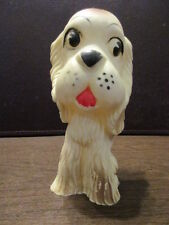 Vintage Rubber Squeak Toy - Brown Dog - Puppy - Molded Latex Prod. Inc. - 1953