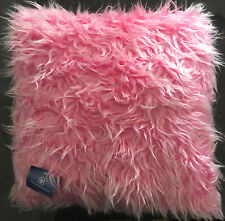 Pink Shaggy Filled Cushion  | Fur / Acrylic / Polyester | 43x43cm | 2 x Cushions