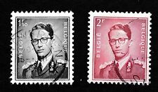 N0 402A - 1953   2 X BELGIUM STAMPS KING BAUDOUIN - 1F.50 & 2F -  USED