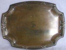PLATEAU DE TABLE Style LOUIS XVI (Ovale à 4 quarts de rond) en LAITON