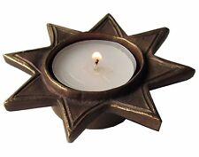 Teelichthalter Leuchter Stern Bronze 9 cm tea light holder star