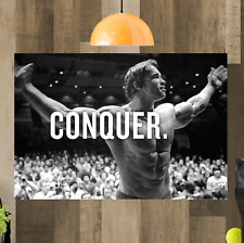 Arnold Schwarzenegger Framed Canvas Art Picture Print Ready To Hang