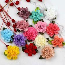 20/50/100P DIY Satin Ribbon Carnations Flowers Appliques/craft/Wedding Supplies