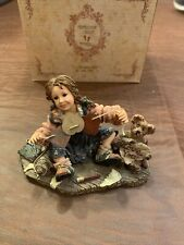 Boyds Bears Yesterday's Child Susan with Cupid. Paper Hearts w/ Box