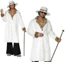 Adults Pimp Costume Mens 1970s Fancy Dress Outfit Pimp Gangster Daddy New