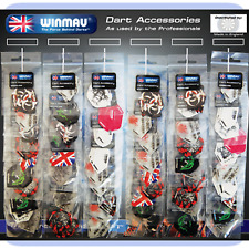 Winmau Flights Pub Selection Dart Supplies on Card Super Mix Flights (60 Sets)
