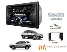 Fits 2005-2008 KIA RIO, RIO5,SPORTAGE Car Stereo Double DIN Kit,BLUETOOTH USB CD