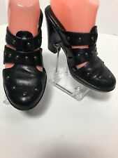 Born Womens Clogs Sandals Size 7/38 Learhee Black