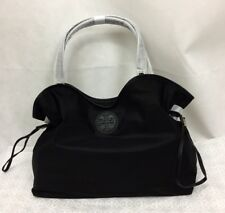 NWT Tory Burch Nylon Slouchy Tote Shoulder Shopper Bag , Black # 43512 0817