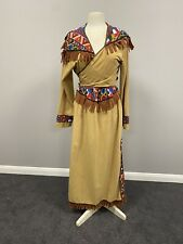 ex hire fancydress costumes - Beige Indian Lady Squaw Skirt & Top - Large 46