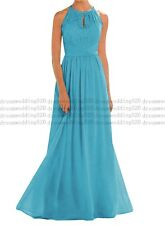 Long Chiffon Lace Evening Formal Party Ball Gown Prom Bridesmaid Dress 6-30