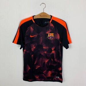 FC BARCELONA TRAINING FOOTBALL SHIRT 2017/2018 SOCCER JERSEY NIKE MEN'S SIZE M