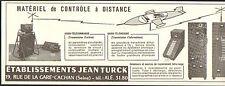 CACHAN ETS JEAN TURCK MATERIEL CONTROLE AVIATION PUBLICITE 1955