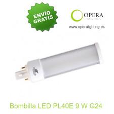 Bombilla LED PL40E 9w G24 blanco-frío medidas: 170x40 mm.