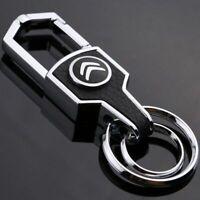 Citroen car metal keyring key safe fob case cover badge holder chain tags