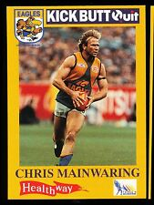 1995 West Coast Eagles Kick Butt Quit Healthway Chris Mainwaring Card No. 7