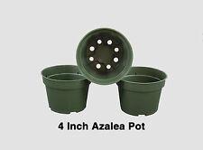 4 Inch Pots Round Azalea Green Plastic Flower Herb Growing Perennial - Qty 100