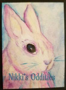 Aceo Purple Easter Bunny Rabbit Original Watercolour Painting Nikki C