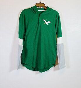 Nike Philadelphia Eagles Green Long Sleeve Hoodie NKBR-006K Mens Size L NFL