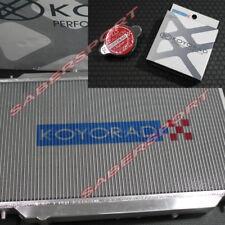 Koyo 36mm V-Core Aluminum Radiator w/ Hyper Cap for 2002-2005 Honda Civic Si