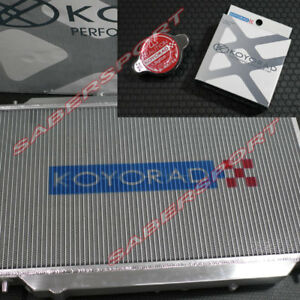 Koyo 36mm V-Core Aluminum Radiator w/ Hyper Cap for 2002-2005 Honda Civic Si
