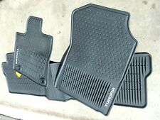 2014-2018 Toyota Tundra Crew Max OEM All Weather Rubber Floor Mats Used 2 Weeks
