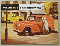 AUSTIN A35 5 CWT DELIVERY VAN Sales Brochure c1957 #1140/E