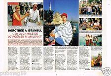 Coupure de presse 1993 (2 pages) Dorothée à Istanbul