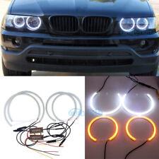 Dual Color Angel Eye Halo Light Lamp Ring LED Headlight Kit For BMW E53 X5 00-04