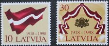 80th anniversary of declaration of independence stamp, Latvia, ref: 513 & 514