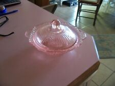 Mayfair Open Rose pink covered butter or vegetable dish