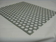 "Perforated Metal Aluminum Sheet .125 Gauge 12""x12""  3/4"" hole 1"" Stagger"