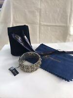 *WOW* $6495 BNWT Sterling 18k Yellow Gold KONSTANTINO Bracelet Blue Topaz Stones
