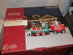 Gemmy Christmas Train Airblown Inflatable 15.5 ft Lighted Holiday NIB