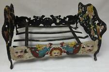 Antique Cast Iron Doll Bed in Original Paint Probably 19th Century