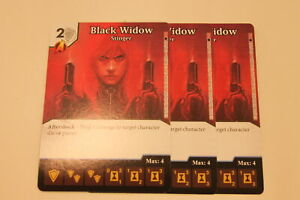 DICE MASTERS - 3X BLACK WIDOW STINGER - CARD ONLY - PROMO