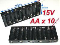 2pcs Battery Holder Box Case w/Wire 10 X AA 15V B#