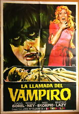 "1972 The Curse Of The Vampyr RARE Spanish 27"" X 40"" Horror Cinema Movie Poster"