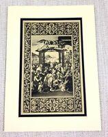 1927 Antico Stampa Italiano Vecchio Master Pittura Adoration Di Il Magi Natività