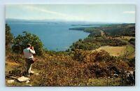 Lake Champlain, NY - AERIAL VIEW - CORLEAR BAY FOUR BROS ISLAND - Postcard O1