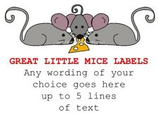 Three Little Mouses PERSONALISED STICKY ADHESIVE LABELS Handmade Stickers Craft