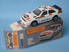 Lesney Matchbox Audi Quatrro Rally car Boxed Toy Model Car 78mm