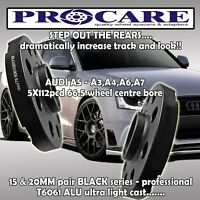 AUDI A4 A5 A6 ALLOY WHEEL SPACER pair 15MM 5112PCD 66.5 - by PROCARE