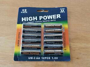 Lot de 60 Piles AA LR6 LR06 1.5V - HIGH POWER SUPER EXTRA HEAVY DUTY LONGLIFE