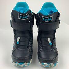 BOYS GIRLS BURTON ZIPLINE IMPRINT 1 BLACK BLUE SNOWBOARD BOOTS Size 6 YOUTH