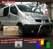 RENAULT TRAFIC 01-14 LOW BULL BAR WITHOUT AXLE BARS +GRATIS! STAINLESS STEEL