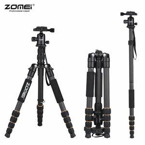 ZOMEI Q666C 59inch Travel Portable Lightweight Carbon Fiber Camera Tripod D4L3