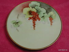 """J&C Jaeger & Co Bavaria Hand Painted (Red Currents) 8 3/8"""" PLATE Exc"""