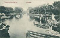 Ansichtskarte Fürstenwalde Spree Der Hafen 1907  (Nr.897)