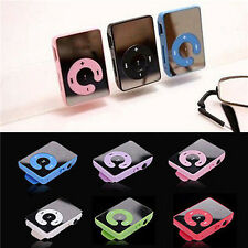 Mini 7 Colors Mirror Clip USB-Digital Mp3 Music Player Support 8GB SD TF Card